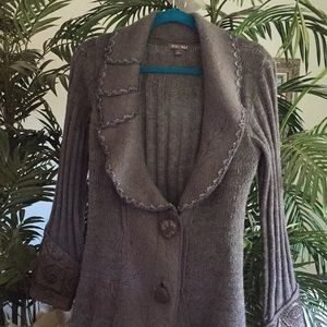 Vintage wool long cardigan